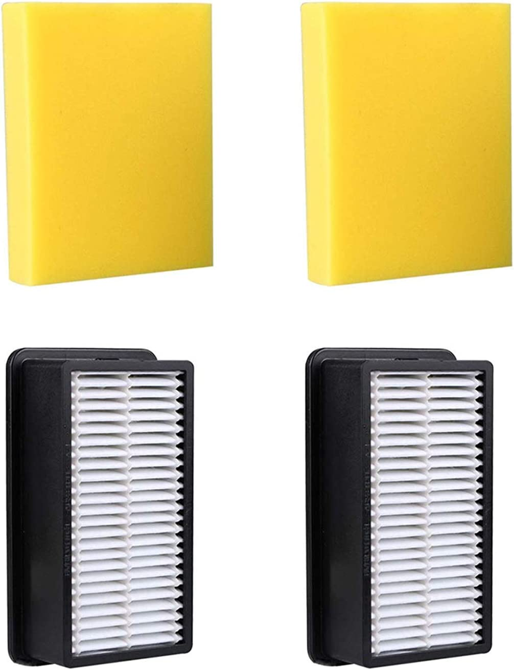LGLR 2 Pack Pre & Post Motor Replacement Filter Kit for Bissell 1008, 9595A, 1330, 1328 CleanView, Compare to Part # 2032663 & 1601502, 2 Pre-Motor Foam Filter and 2 Post-Motor Filter