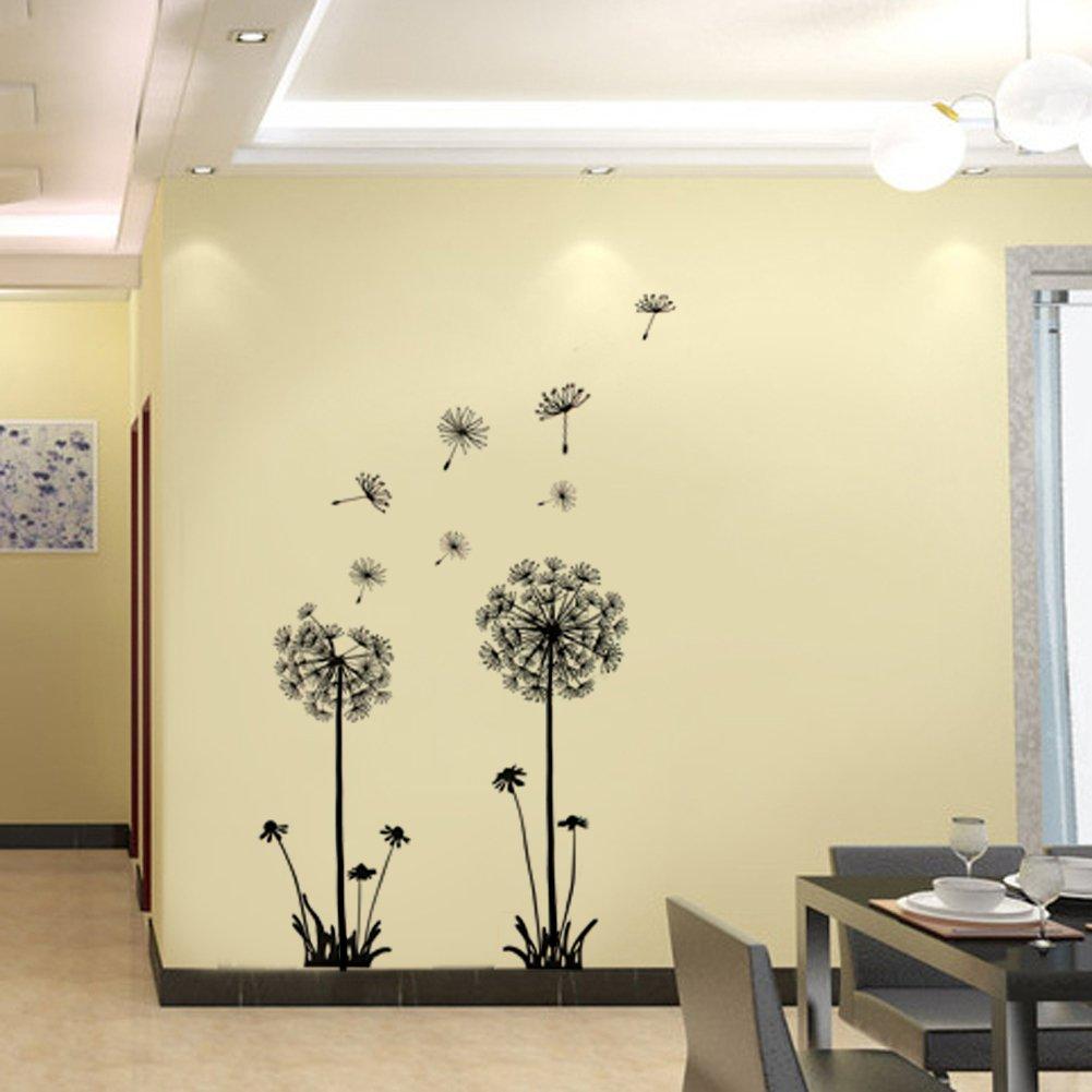 Amazon.com: RHX Decor Dandelion Flower Removable Bed Room Art Mural ...