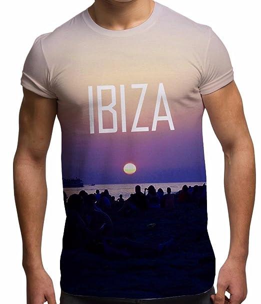 Bang Tidy Clothing Camiseta de impresión Completa por sublimación para Hombre Noche Ibiza 2015 en Blanco Talla XL para Vacaciones y Festivales: Amazon.es: ...