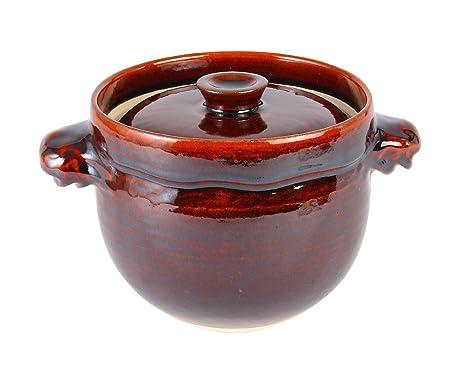 マルヨシ陶器 飴釉かめ型炊飯鍋 3合 M0530