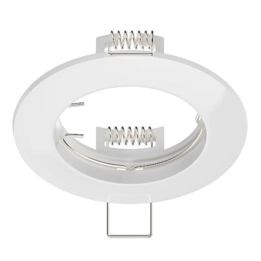 LED//Halogen//GU10//MR16//PAR16 Deckeneinbaurahmen Circ Aluminium Einbaurahmen weiß