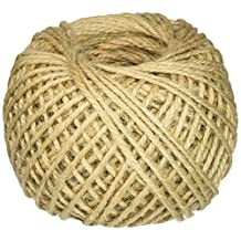 3-Ply Twisted Burlap String Ribbon Jute Twine Rope Wrap 80M