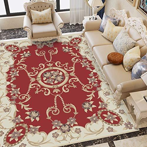 WXDD Estilo Europeo Dormitorio de Oficina Personalizado sofá de la Sala de Oficina té Alfombra Alfombra Felpudo Correo de la Alfombra roja, 500MM x 1000MM, Color Naranja