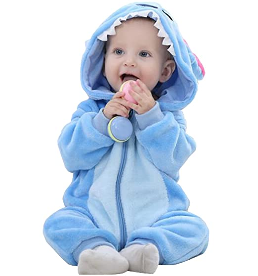 Amazoncom Cloho Unisex Baby Animal Onesies Flannel Cartoon Romper