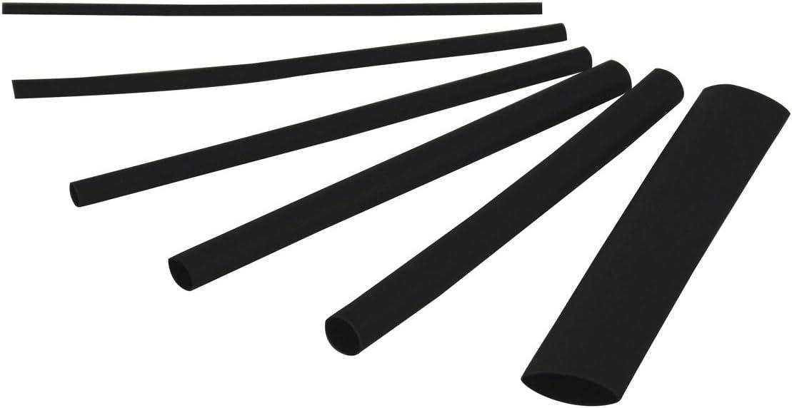 "Gardner Bender HST-ASTB Heat-Shrink Tubing Assortment, 3/32-3/4"", Black"