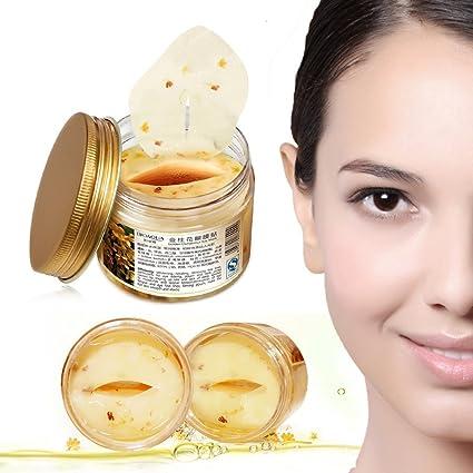 Oro Osmanthus máscara de colágeno para ojos, círculo oscuro bioaqua Ageless – Tratamiento Antiarrugas Hidratante