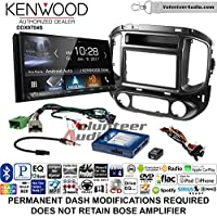 Volunteer Audio Kenwood DDX9704S Double Din Radio Install Kit with Apple Carplay Android Auto Fits 2015-2017 Chevrolet Colorado, GMC Canyon