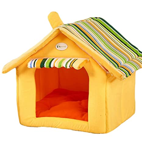 dog play room mansion saymequeen puppy cat indoor cave sweet house bed dog play room m 40x35cm amazoncom