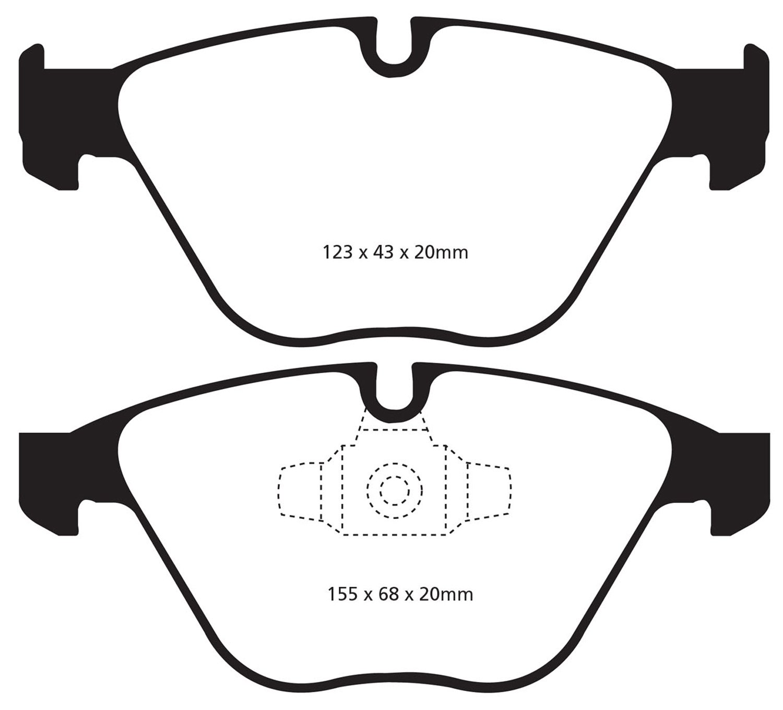 EBC Brakes DP31512C Redstuff Ceramic Low Dust Brake Pad