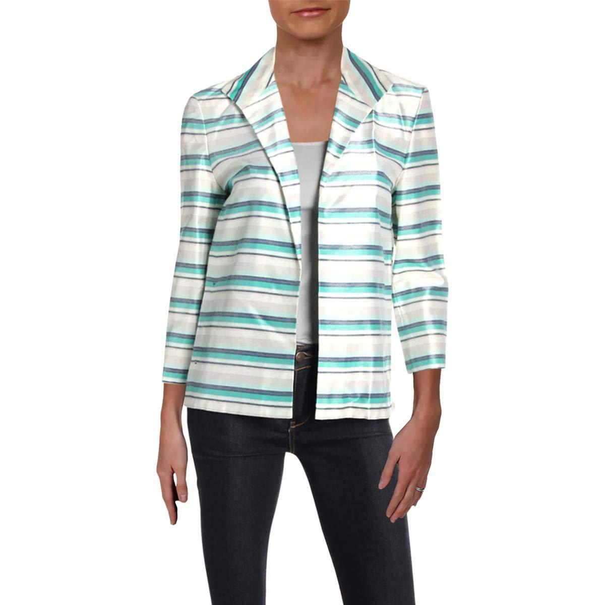 Julep Multi Lafayette 148 New York Womens Ramira Striped Open Front Jacket
