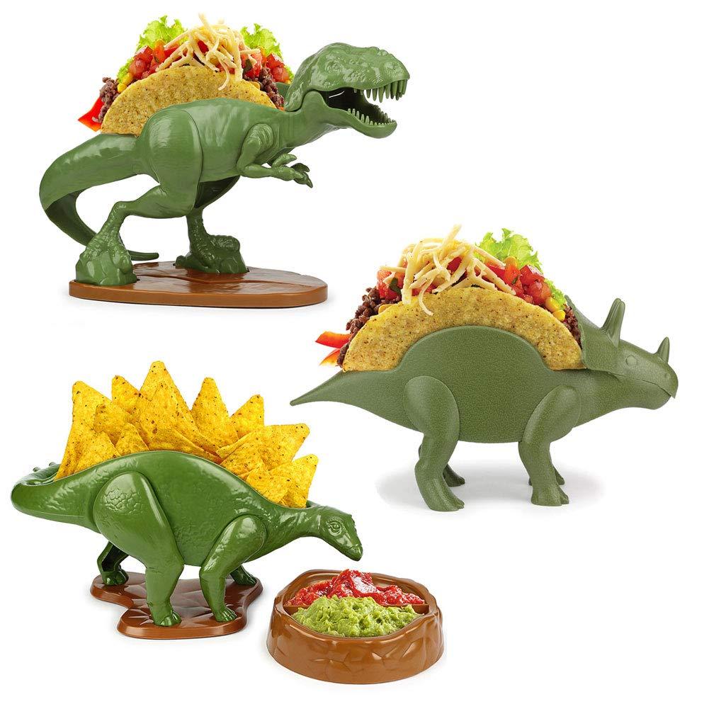 (Set) Tricerataco & Nachosaurus & Tacosaurus Rex - Making Appetites Extinct by Barbuzzo (Image #1)