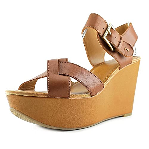 f6ab0a537 Tommy Hilfiger Women s Shoes Fizz 2 Crisscross Platform Sandals Suede  Medium Brown ...