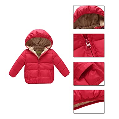 07e97b7d2 Amazon.com  AHZZY Toddler Baby Winter Jacket Kids Clothes Hooded ...