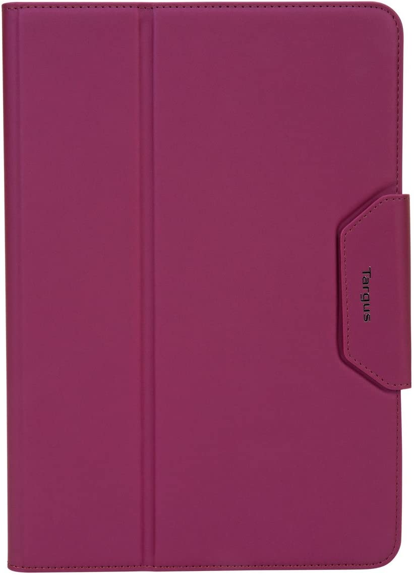 Targus VersaVu Classic Apple iPad Air and iPad Pro 10.5-inch Protective Tablet Case with Slim TriFold Stand Cover, Enhanced Audio, Stylus Holder, Secure Strap Closure, Purple (THZ67107GL)