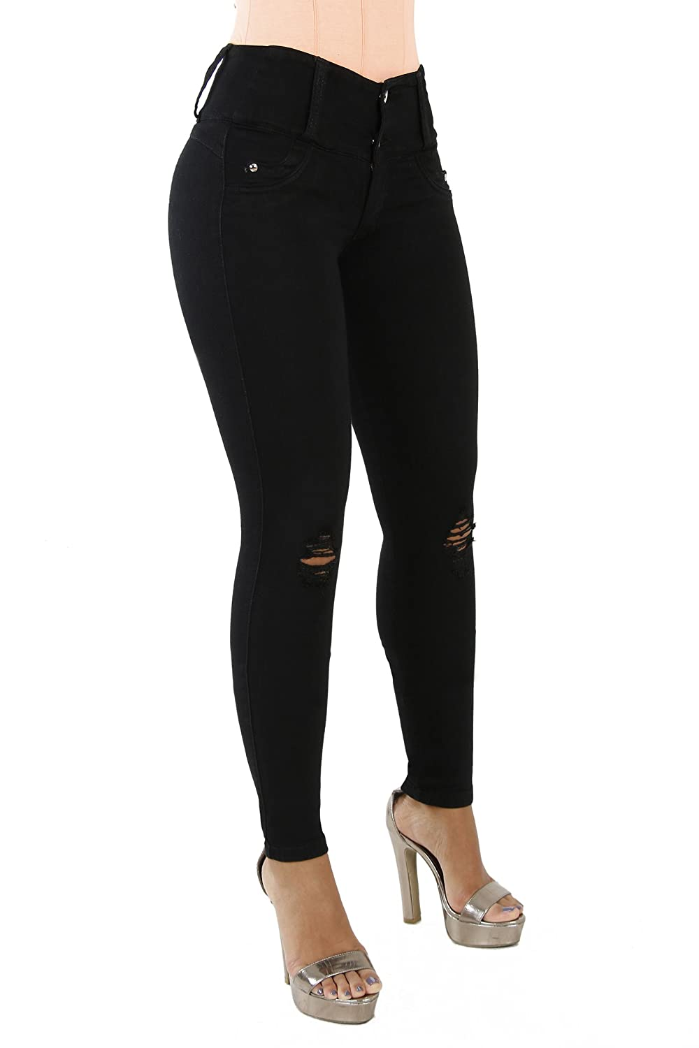 Blackd2 Curvify 764 Women's ButtLifting Skinny Jeans   HighRise Waist, Brazilian Style