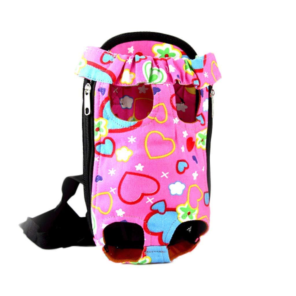 pink heart M pink heart M Outgoing Dog Cat Bag Portable Pet Backpack Chest Bag Belt Bag