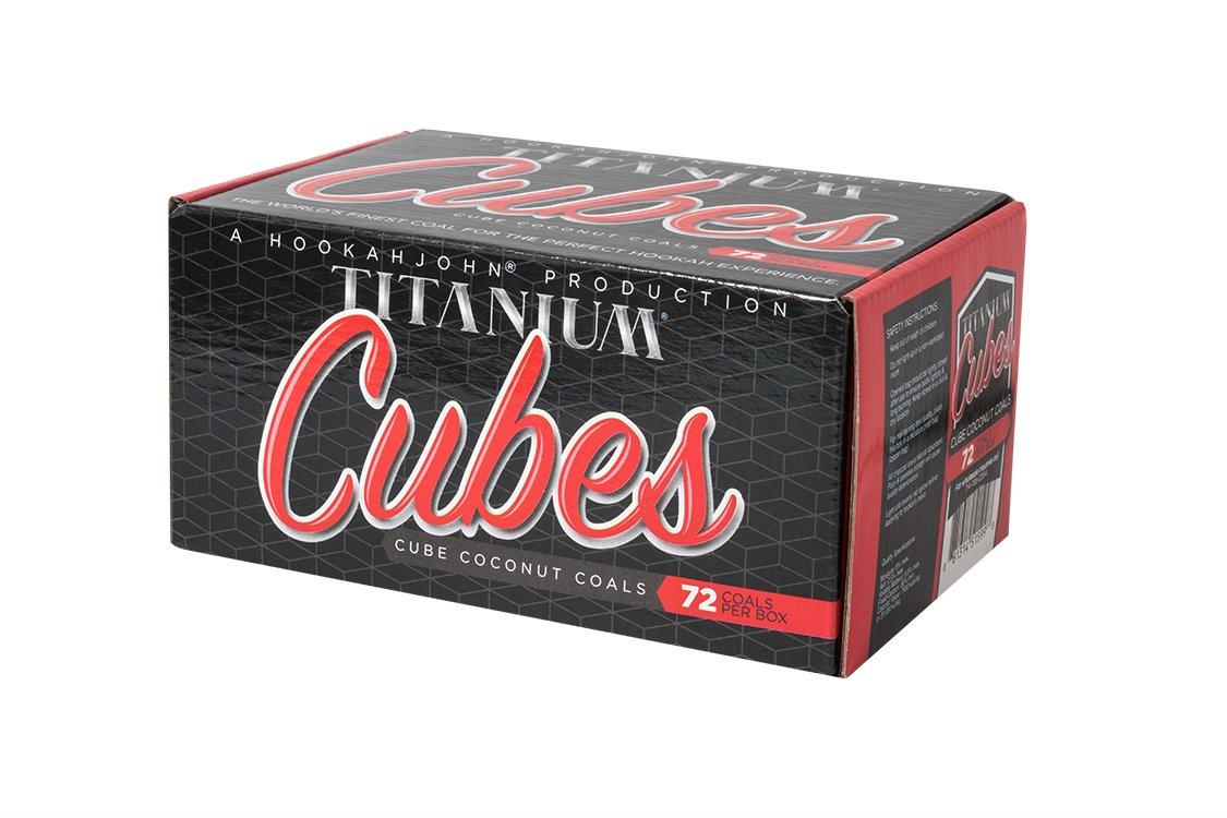 Titanium Coconut Coals Cubes HookahJohn
