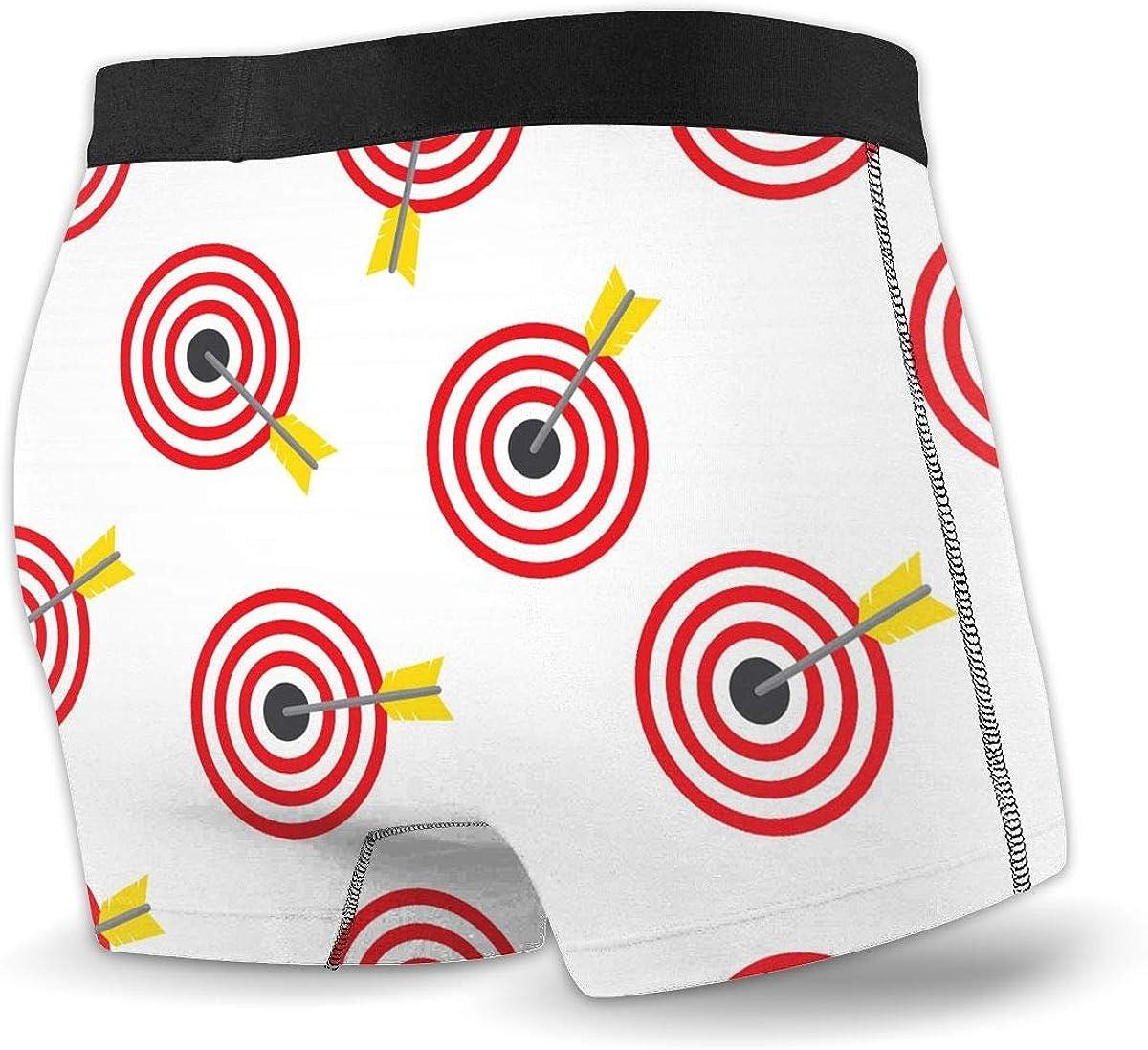 Dream Town J Archery Target Mens Boxer Briefs Underwear Lightweight Performance Underpants Trunks