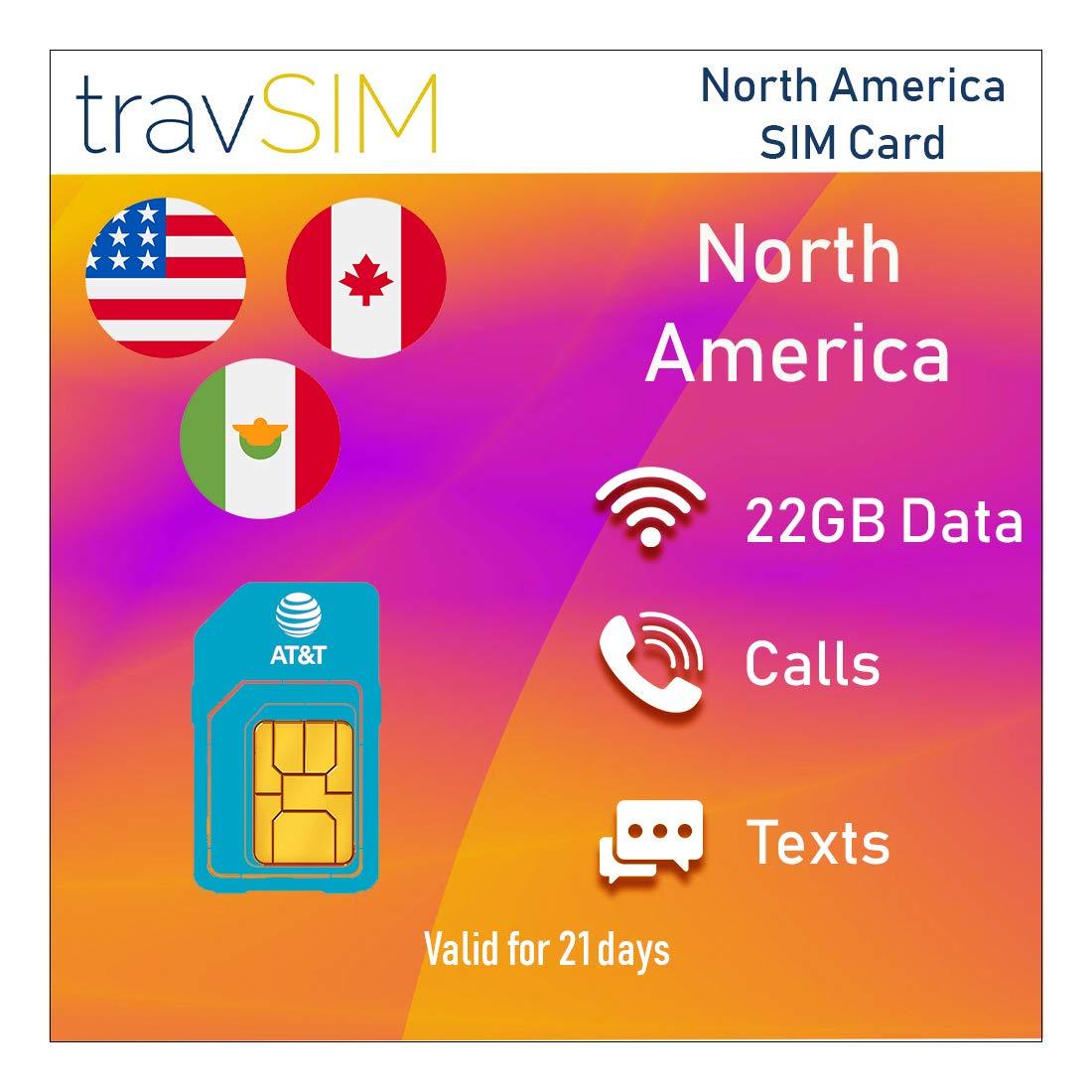 TravSIM - Tarjeta SIM prepagada AT&T para América del Norte ...