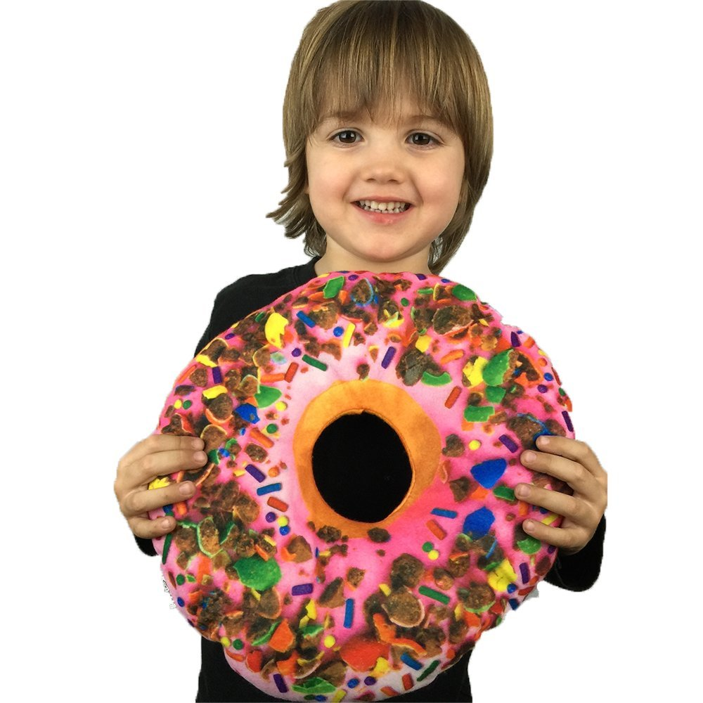 12 Inch Novelty Food Throw Pillows (Donut Pillow)