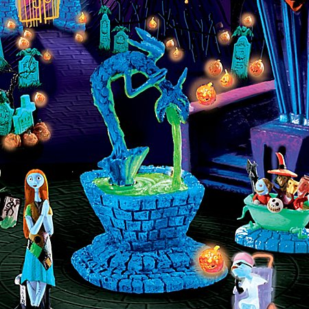 amazoncom tim burtons nightmare before christmas black light village collection subscription plan home kitchen