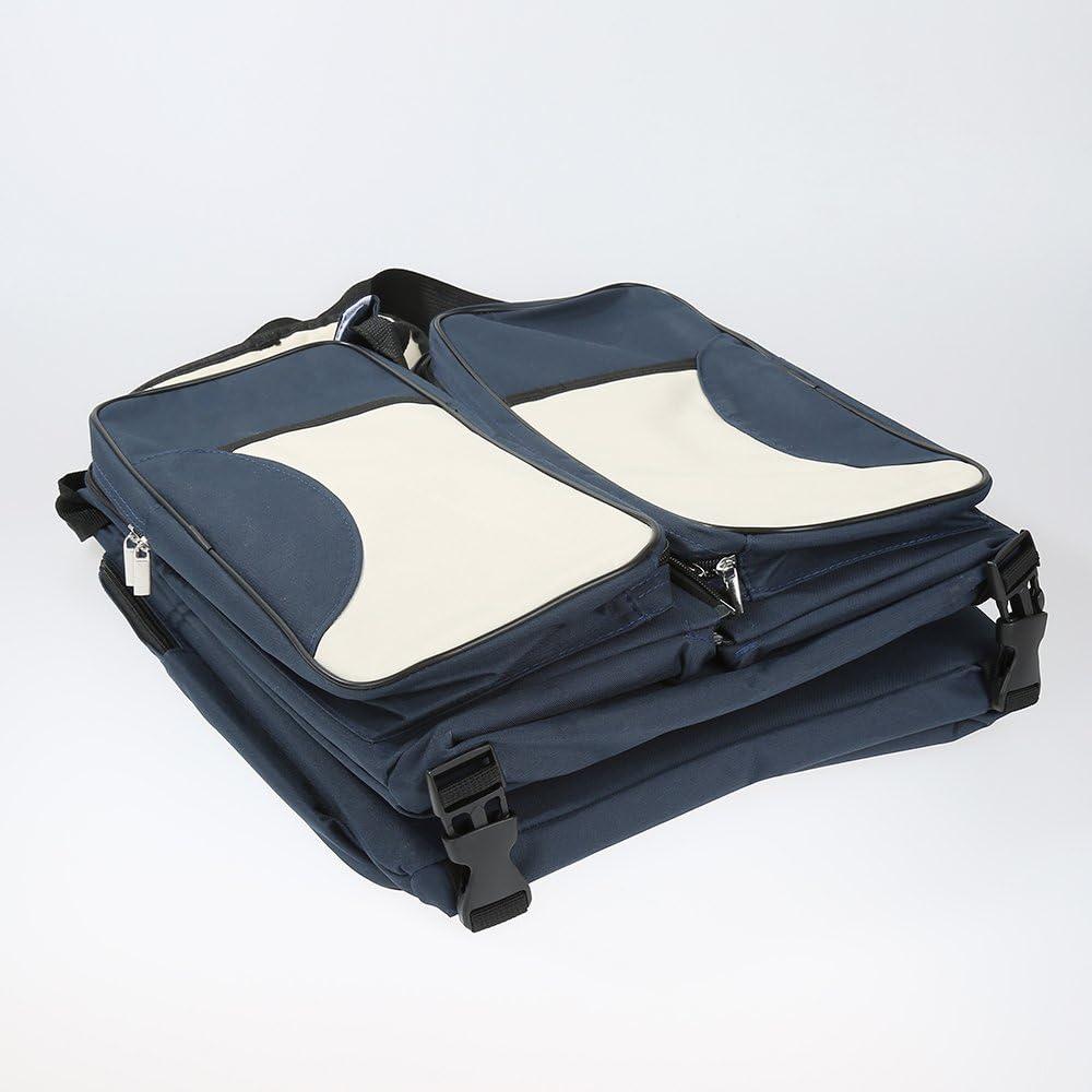 Bleu Fonc/é lit de voyag/é berceuse lit portable 3 en 1 Sac /à Langer b/éb/é lit pliant station de changement multi-fonctions