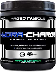 Electrolytes, Kaged Muscle Hydra-Charge Premium Electrolyte Powder, Hydration Electrolyte Powder, Pre Workout, Post Workout, Intra Workout, Apple Limeade, 60 Servings