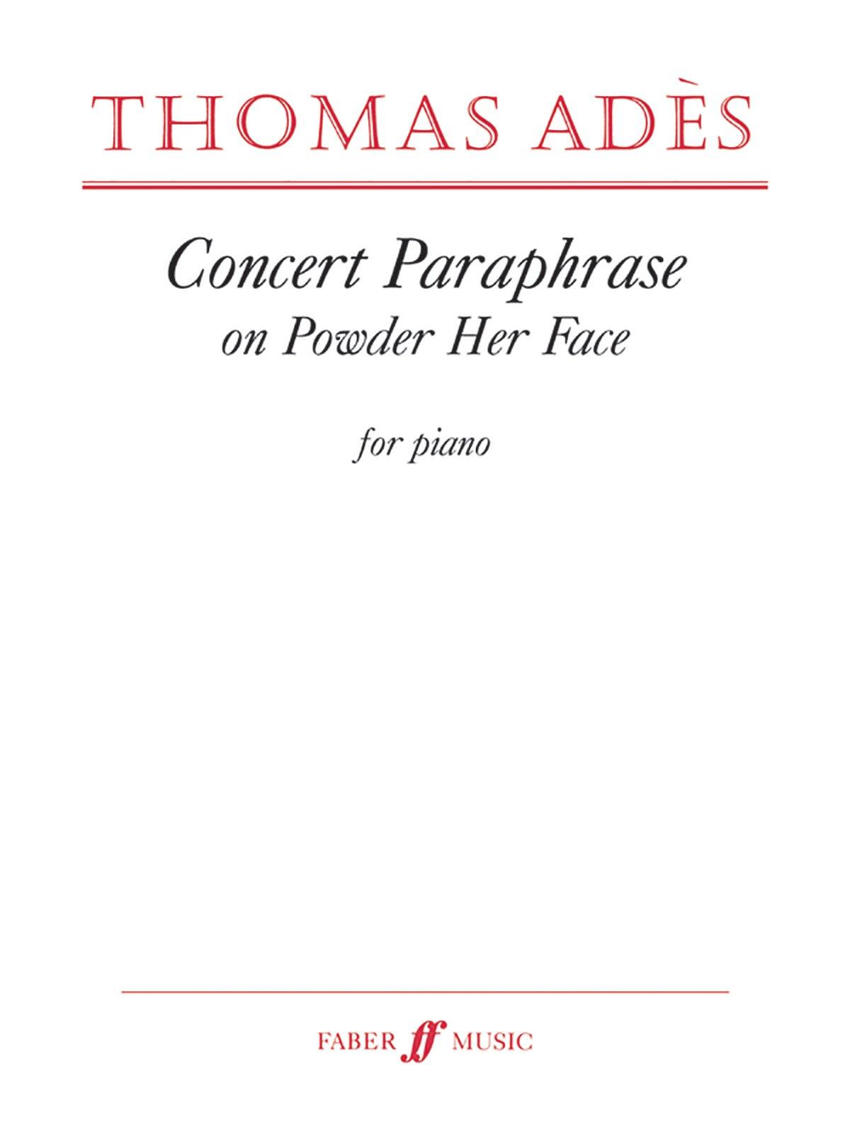 Concert Paraphrase on Powder Her Face (Faber Edition) pdf