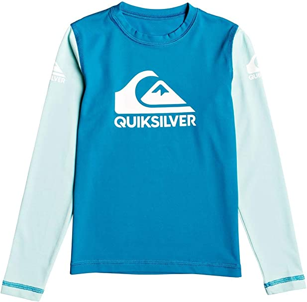 Black 3 Quiksilver Little TIME Long Sleeve BOY UPF 50 Sun Protection