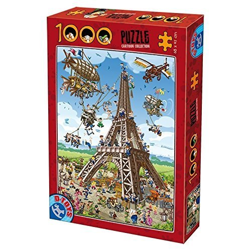 D-Toys - CARTOON COLLECTION Jigsaw Puzzle 1000 - Eiffel Tower
