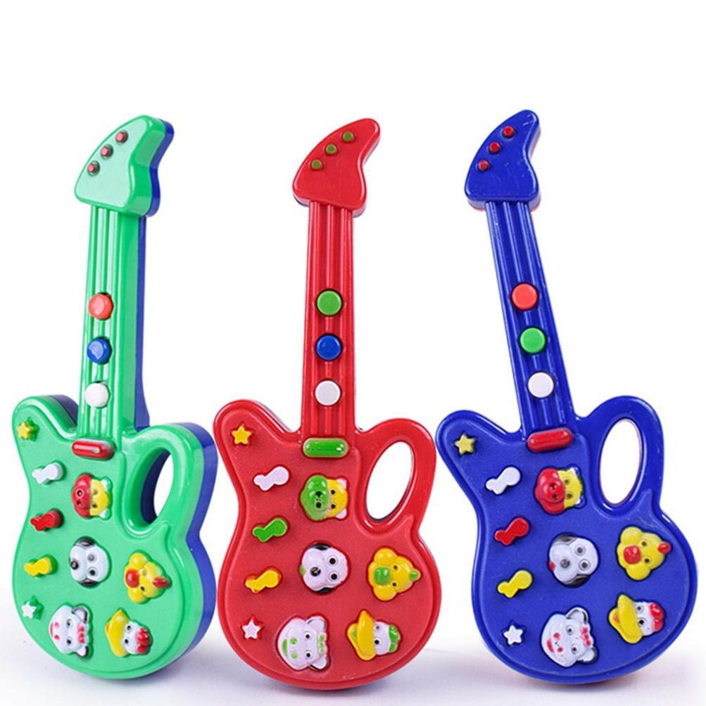 Iuhan Children Learn Guitar Ukulele Mini Animal Can Play Educational Musical Instruments Toys(Color Random) (197.5x2.5cm)