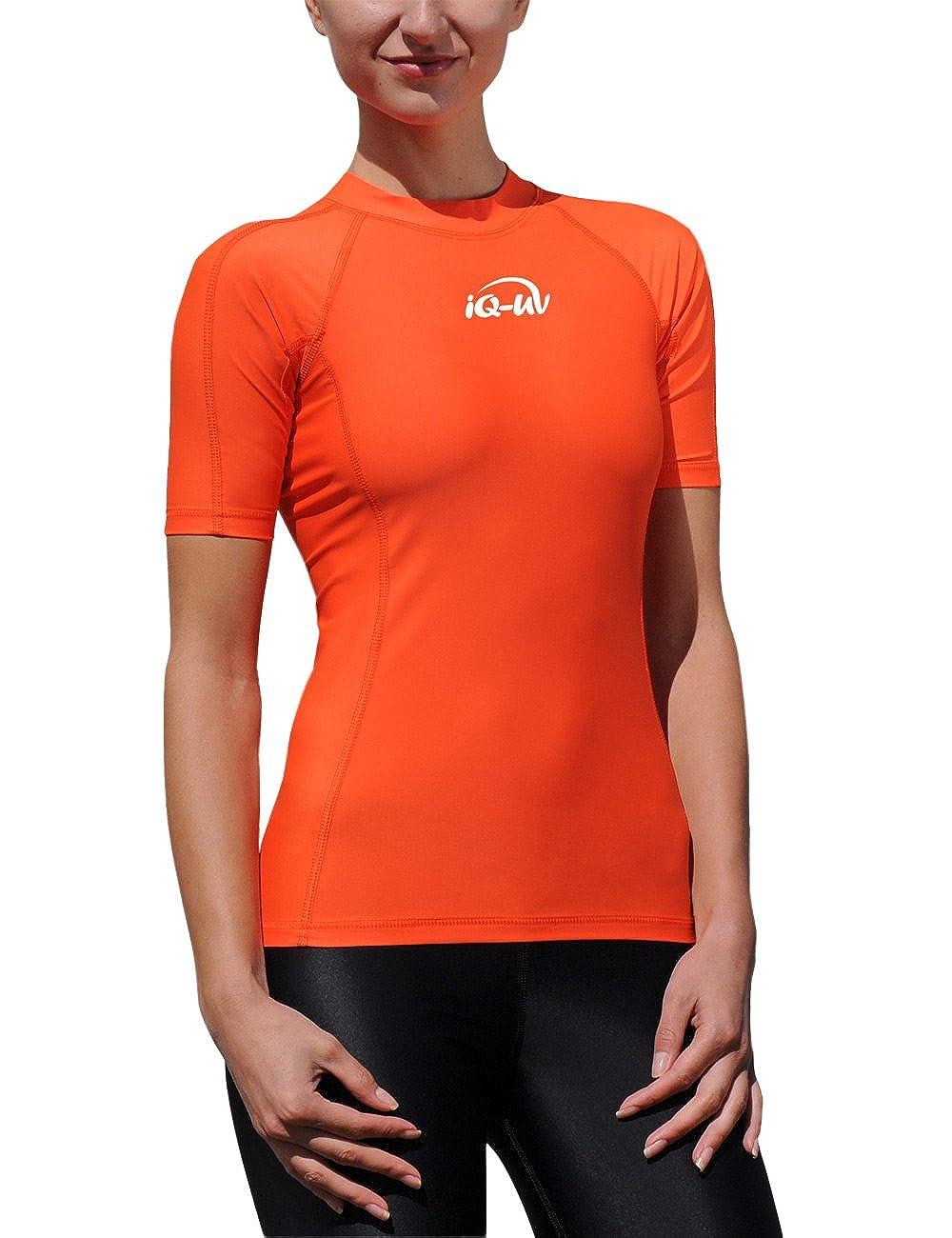 iQ-Company Iq 300 Eng Geschnitten, UV-Schutz T-Shirt Camiseta con Manga Corta, Mujer