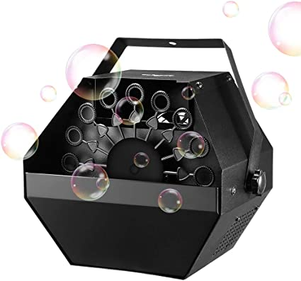 Gresus Professional Metal Bubble Machine Plug-in Bubble Maker with High Output for Outdoor//Indoor Birthday Party Wireless Remote Control Automatic Bubble Blower