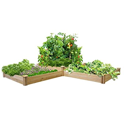 Greenes Fence RC4T4S24B Two Tiers Dovetail Raised Garden Bed: Garden & Outdoor