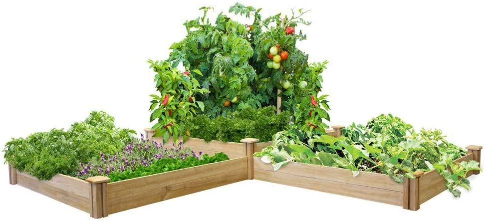 Greenes Fence Rc4t4s24b Two Tiers Dovetail Raised Garden Bed Raised Beds