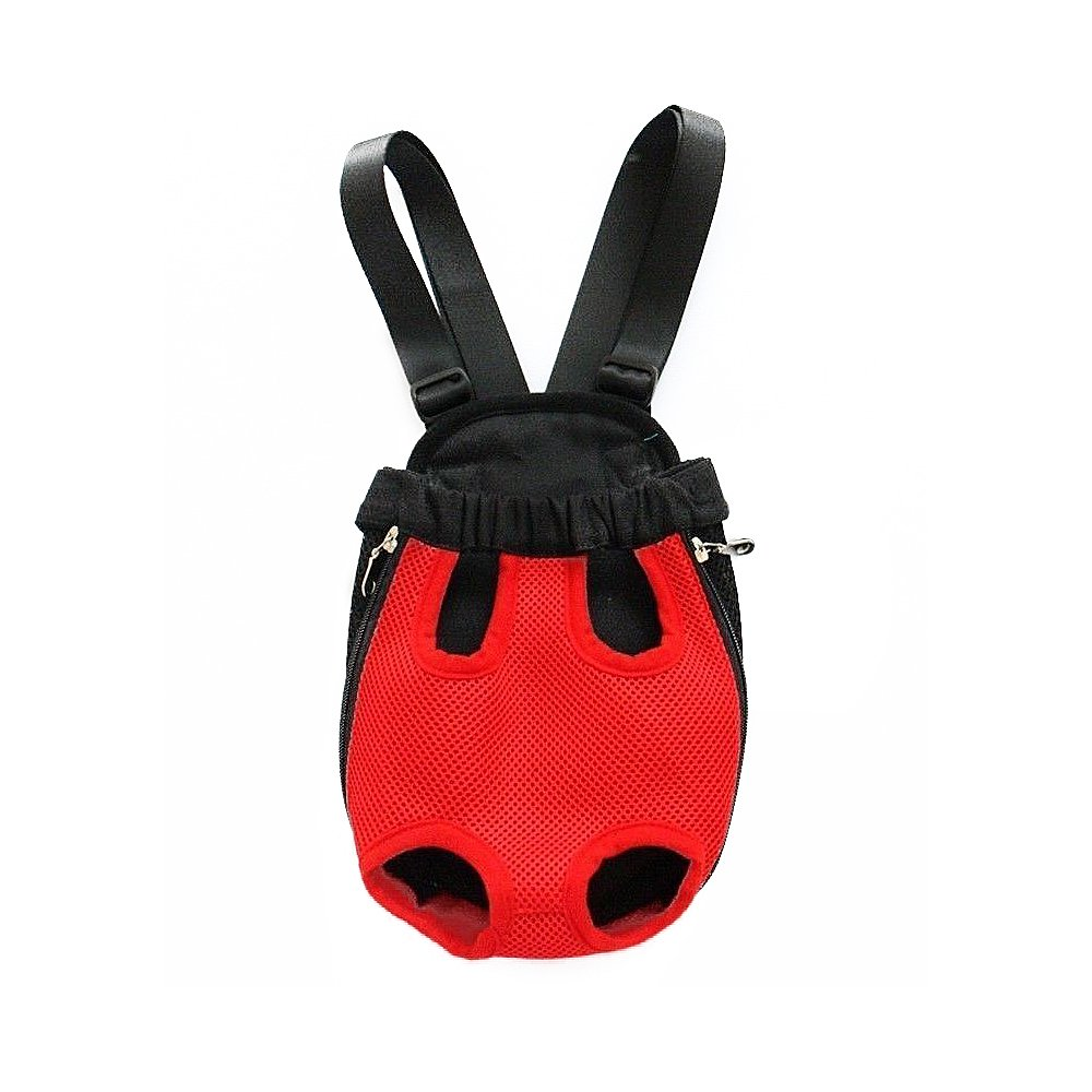 kiwitatá Pet Dog Front Backpack Carrier Puppy Pouch Cat Travel Carrier Bag Legs Out Dog Carrier (M, Red)