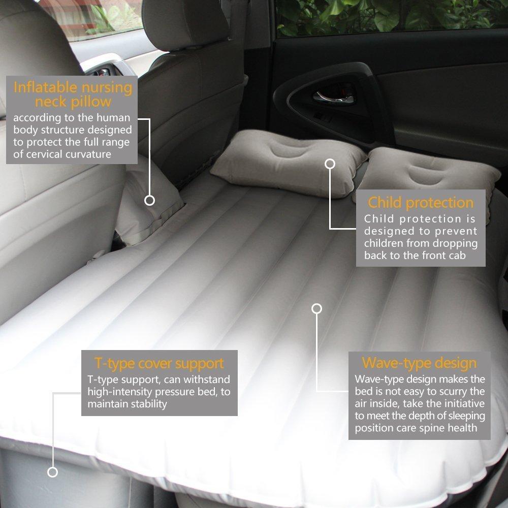 Amazon.com: NEX Car Travel – Colchón hinchable (con almohada ...