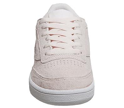 Reebok Club C 85 Trim NBK, Chaussures de Tennis Femme, Gris (Powder Grey/White/Pale Pink 000), 38 EU