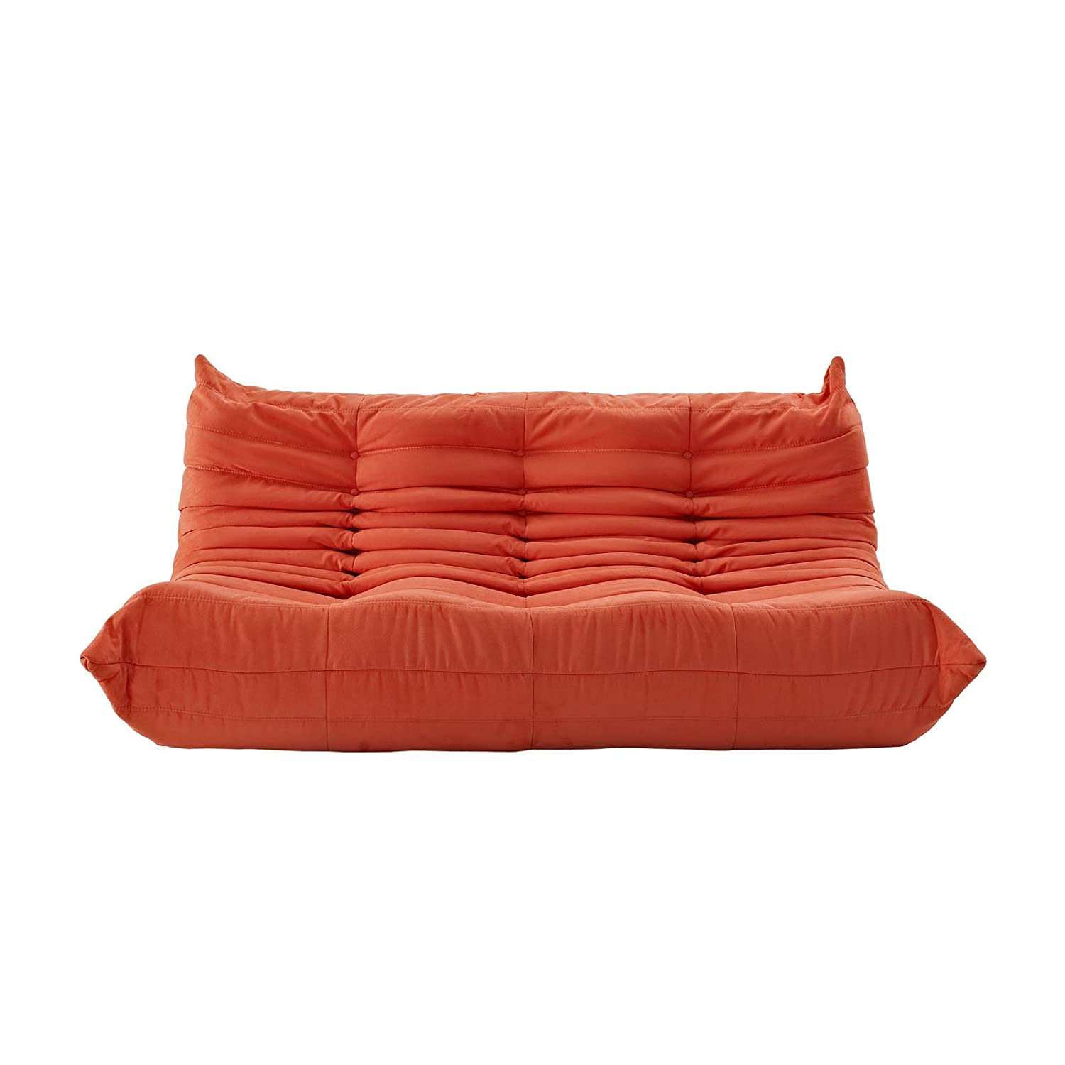 LexMod Waverunner Modular Sectional Sofa in Orange Amazon