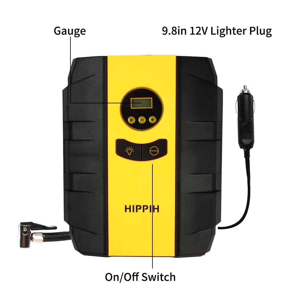 Ordenado 12V DC Portable Electric Auto Air Compressor Pump to 150 PSI Digital Tire Inflator