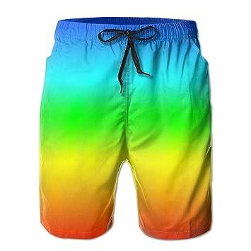 7a574a8c6e9b9 Men's Quick Dry Beach Board Shorts Dreams Rainbow Fashion Swim Trunks Surf  Pants With Mesh Lining