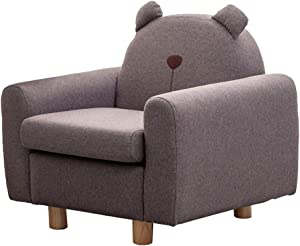 PXX Armchairs Children Gift Sofa Upholstered Couch Perfect for Kids for Living Room Bedroom Reception,Brown,70X55X65Cm