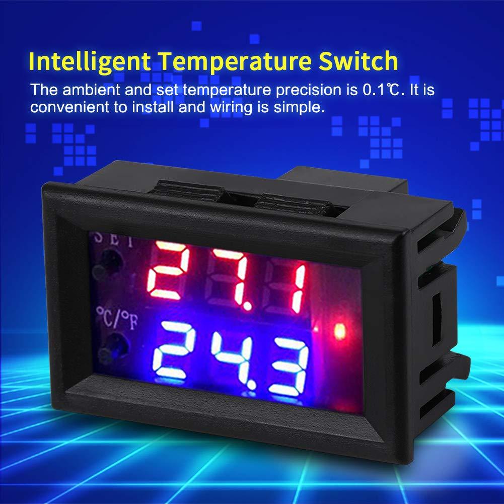 Termostatos Dom/ésticos con Sensor DC 12V Termostato de Microordenador con Pantalla Digital Interruptor Controlador Inteligente de Temperatura