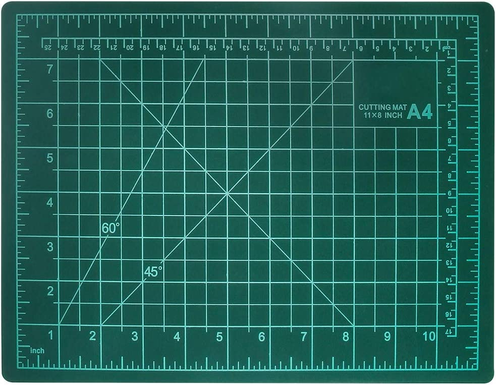 """WIWAPLEX PVC Cutting Mat, Professional Self Healing Cutting Mat, Durable Non-Slip Cutting Mat, Double Sided - Inches and Centimeters, 9"""" x 12"""" (A4) 3MM Thickness Rotary Mat for Arts & Crafts Projects"""