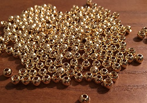 ten Fly Tying Beads 100 Count (Gold, 2.4mm) (Tungsten Beads)