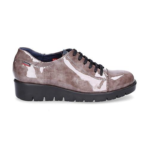 Marrón Callaghan Amazon Cuero Mujer Zapatos 89815brown De Cordones 7wOvx1qw
