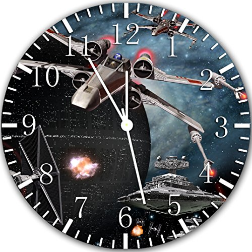 Star Wars Spaceship Frameless Borderless Wall Clock X43 Nice for Gift or Room Wall Decor