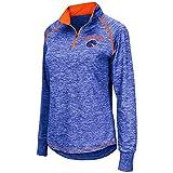 Womens Boise State Broncos Quarter Zip Wind Shirt - S