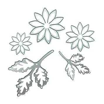 DIPOLA Metal Cortador de Corte de Flores Nuere Troqueles Plástico Reutilizables para Hacer Rosa Delicado Tarjetas Álbum de Fotos y Decoración de Hogar y ...