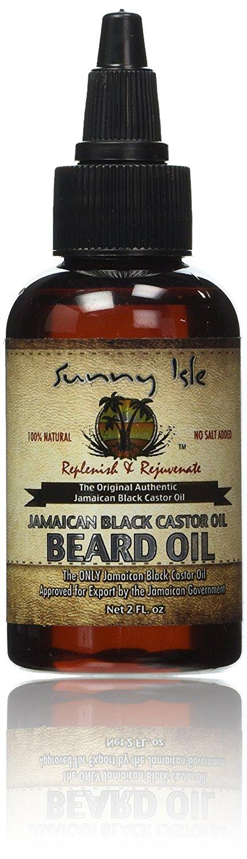 Sunny Isle Jamaican black castor oil beard oil, 2 oz B02